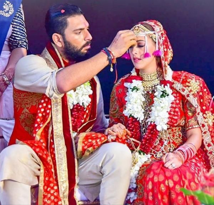 Yuvraj Singh & Hazel Keech