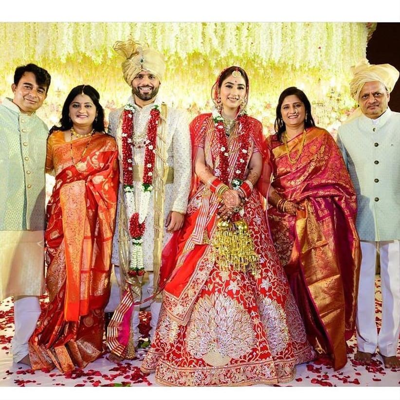 family in rahul-vaidya-marriage
