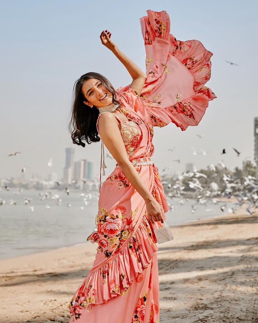 Massom Tiniawala posing happily