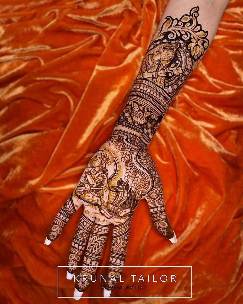 Royal Bridal Mehndi Design