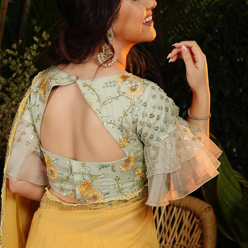 10 Perfect Cotton Saree Blouse Back Neck Designs For The Bride