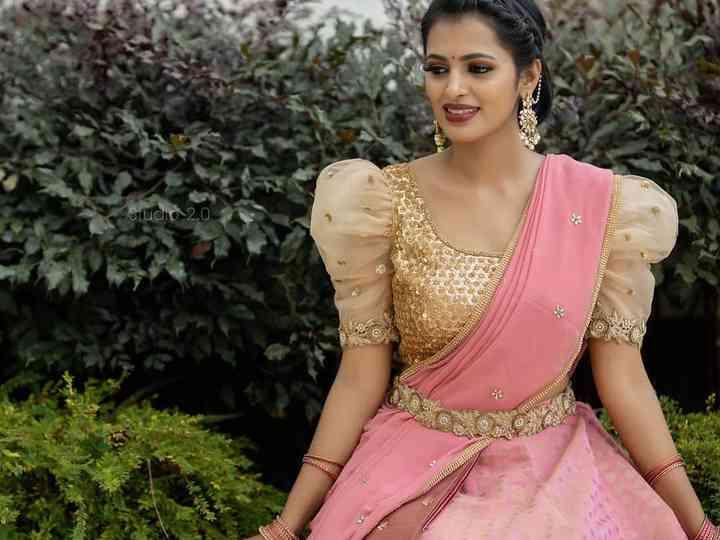 10 Wedding Day Pattu Half Saree Designs For South Indian Brides