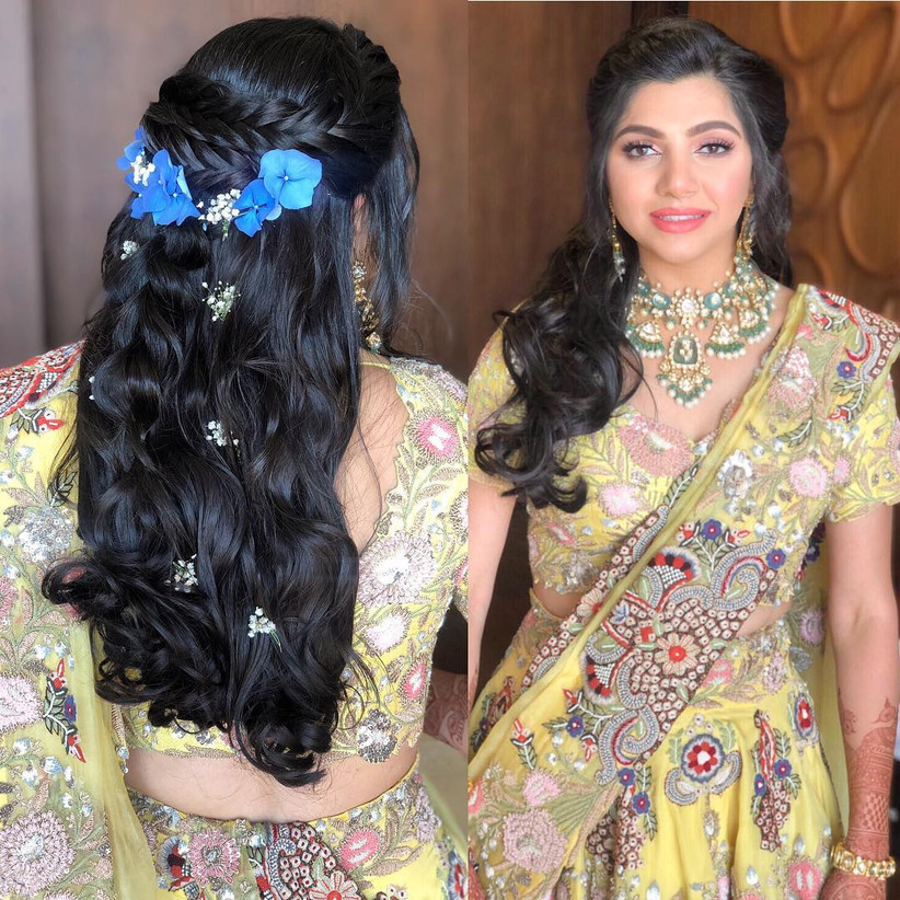This Hairstyle On Lehenga Choli Combination Guide Is All You Need To