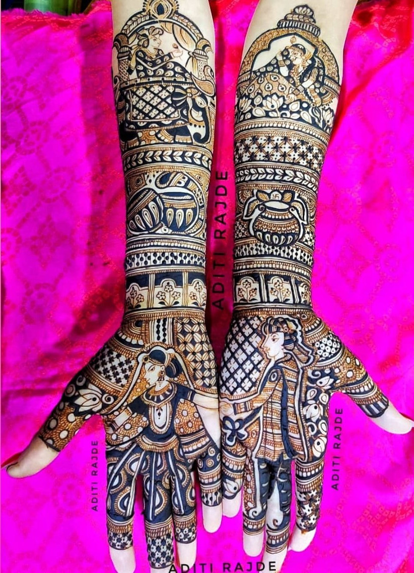 Bride & Groom Mehndi Design