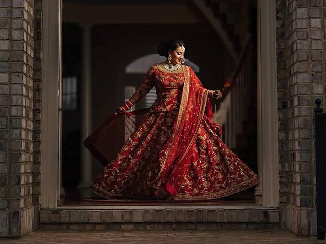 6 Red Lehenga Designs for the Spirited Brides