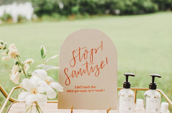 Adorable Sanitiser Station Ideas For An Intimate Wedding