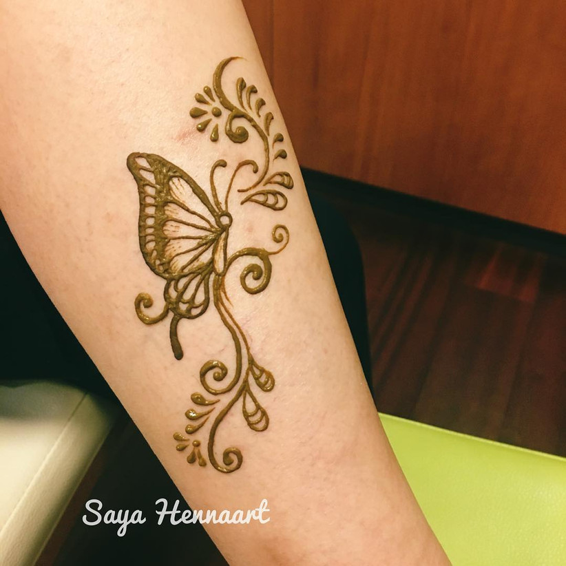 Stunning Butterfly Mehndi Designs To Let Your Titlis Dazzle