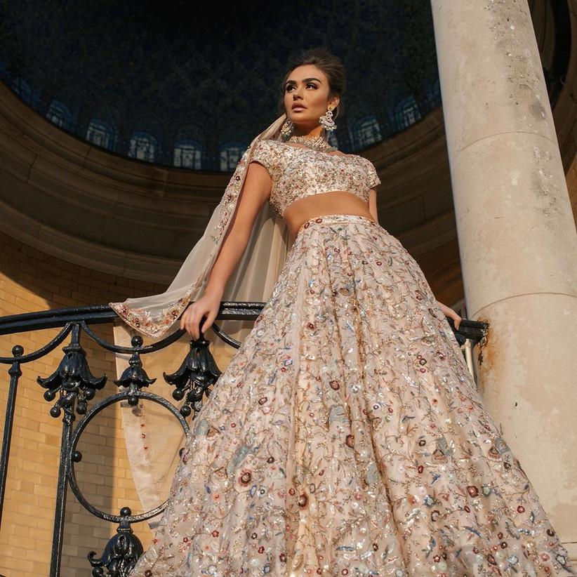 engagement dress lehenga by Ami Bridal couture