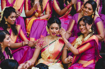 Have You Joined Purple Saree Wedding Trend of the Season?