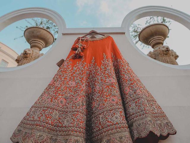 Trailblazing Orange Lehenga Designs