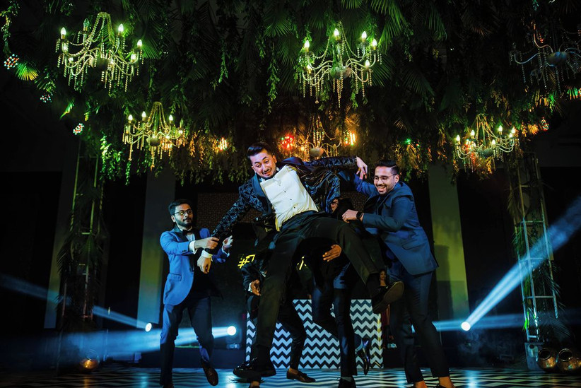 Sangeet dance and music idea by Whatknot Photography