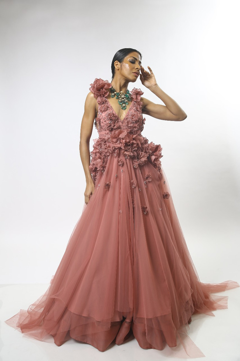 engagement dress gown for brides to be by Varun Bahl