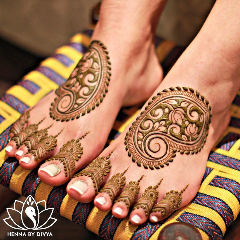 21 Simple Foot Mehndi Design That Are Perfect For Brides,To,Be
