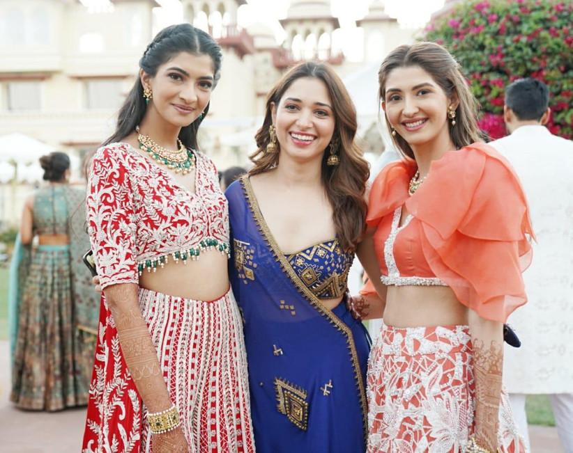 Tamannaah Bhatia & Ohaila Khan at Hanna S Khan's wedding