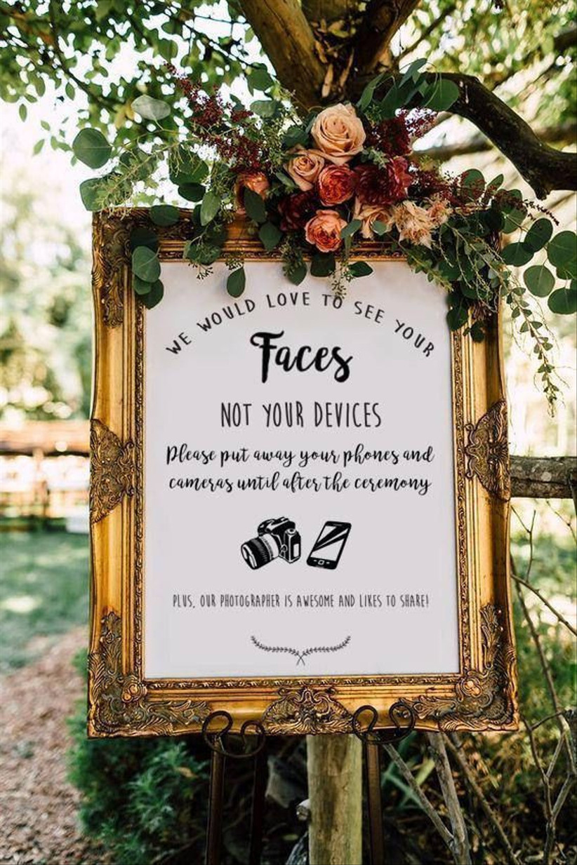 Mindful decor in the wedding