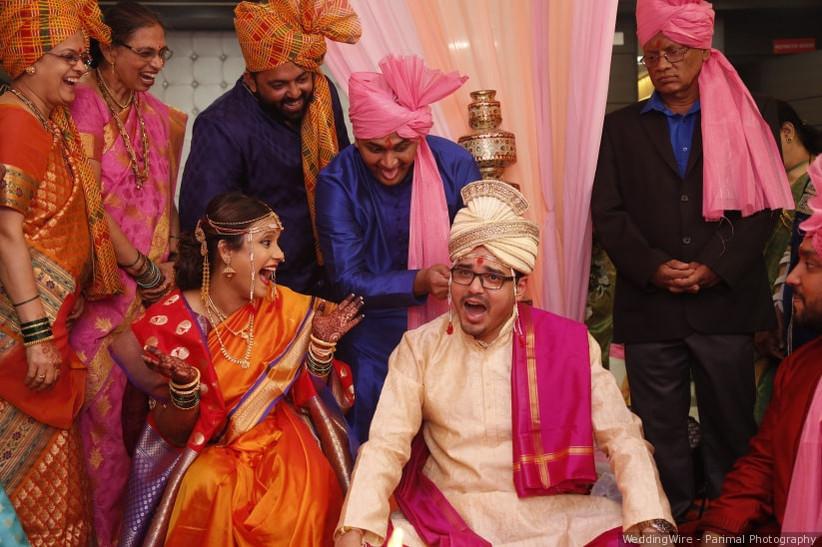 Maharashtrian wedding concludes with Karmasamapti ritual.