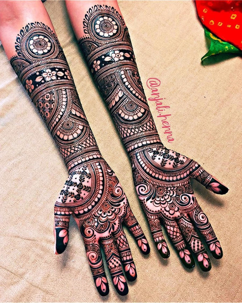 right hand mehndi design