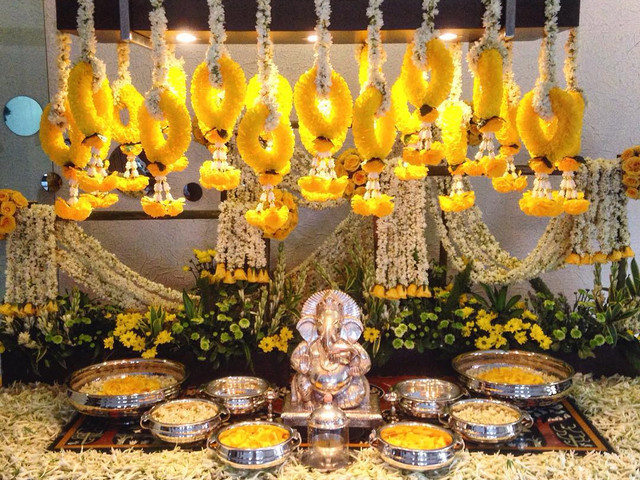 8 Beautiful Ganpati Decoration Ideas That Are Just Perfect For Your Wedding Functions.