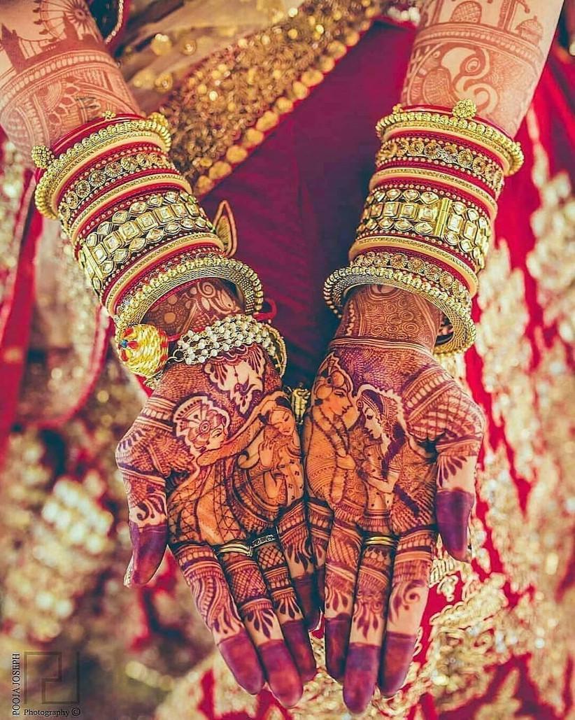 romantic simple henna design