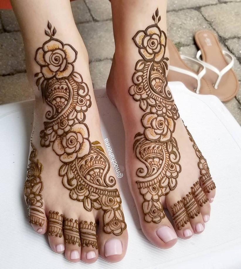 Rose Mehndi for Feet