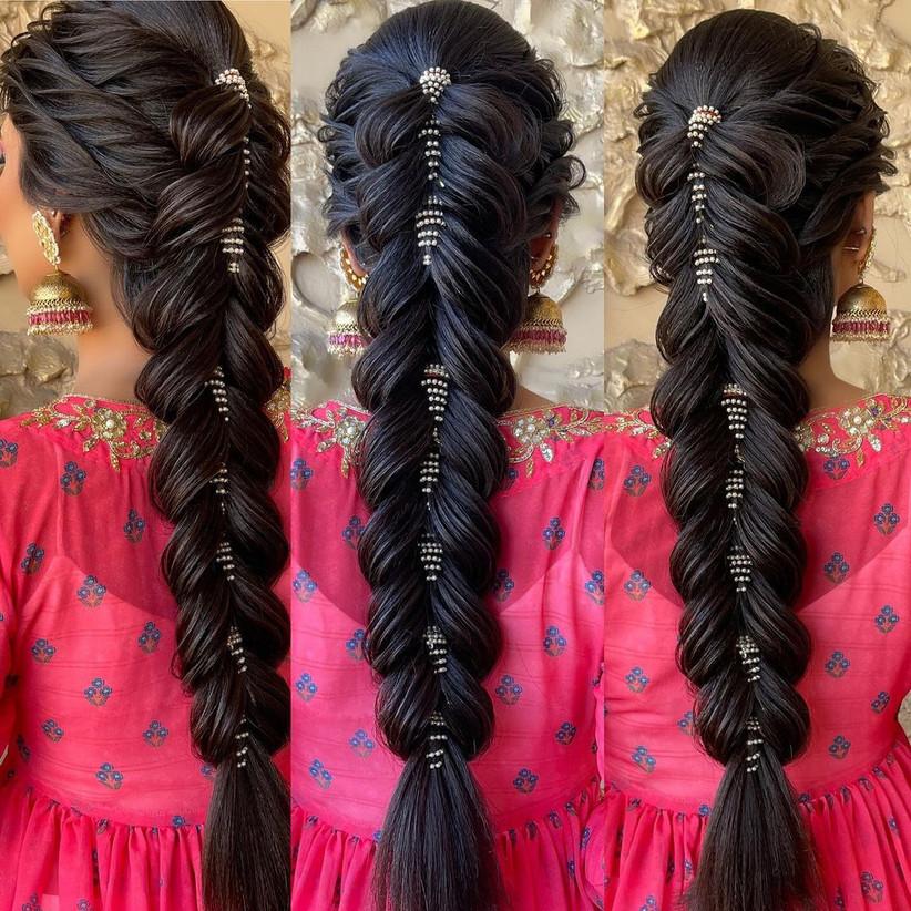 beautiful hair style girl for wedding