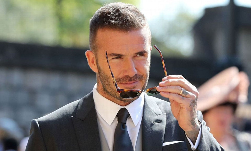 Short Patchy Beard style for men on David beckham