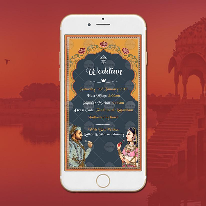 WhatsApp Wedding Invitation Message Template by Happy Invites