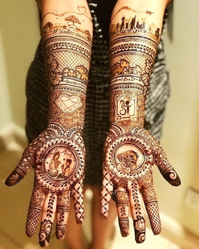 quirky and new mehandi ki design