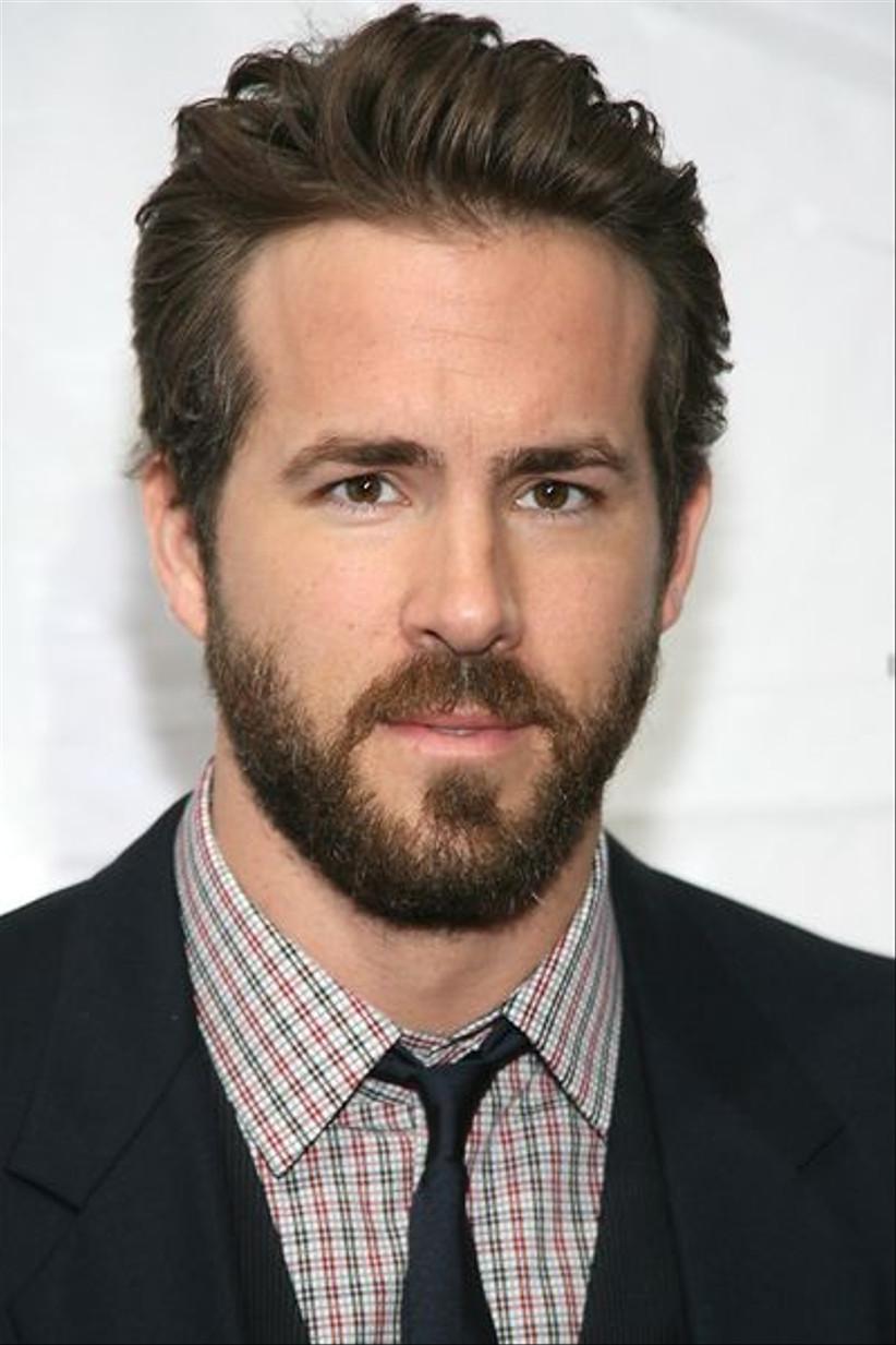 Short & Tapered Indian Beard style for men on Ryan Reynolds