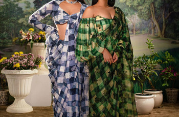 Give Your Wardrobe a New-age Update With Geometric Sarees