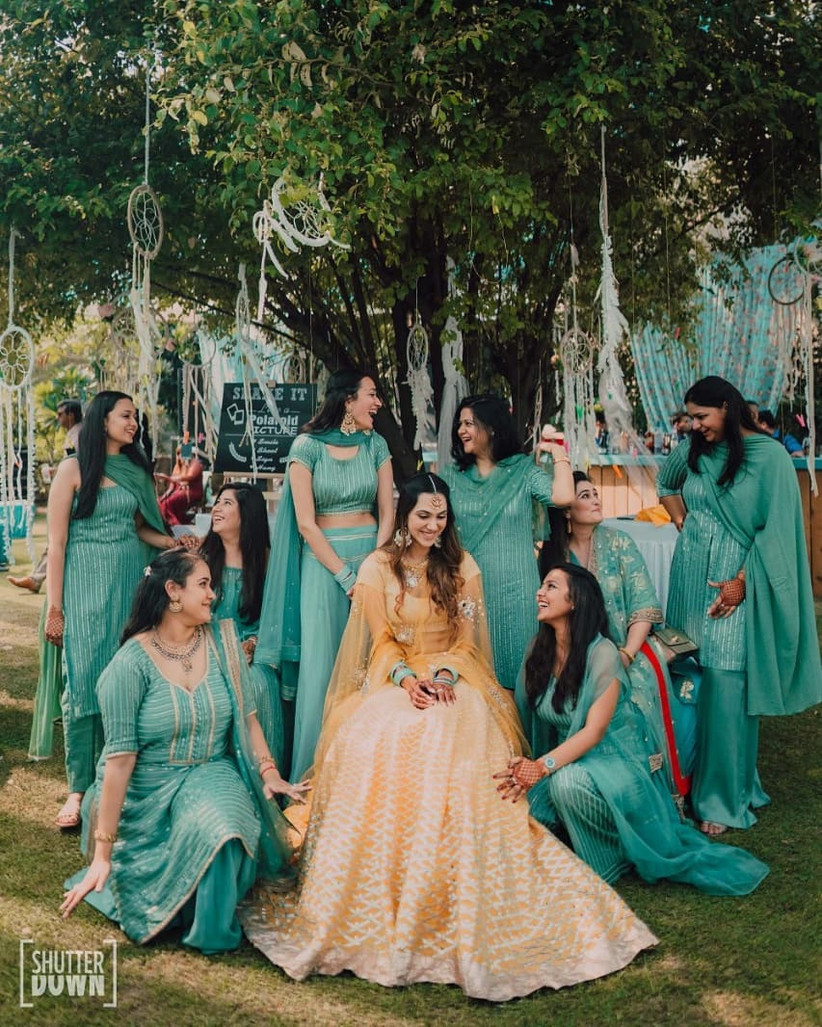 The girly gang- bridesmaid