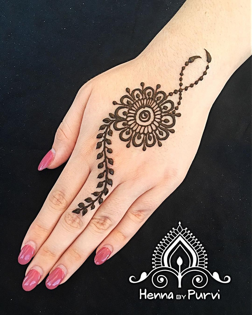 10 Easy Henna Designs For Beginners For Their Backhand And Feet,Easy Simple Mehndi Designs For Beginners Back Hand