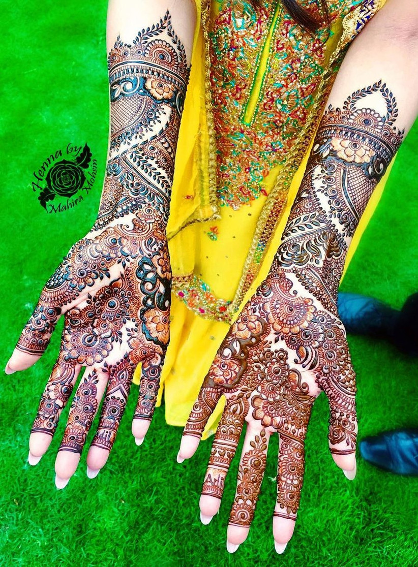 flower bridal mehndi design