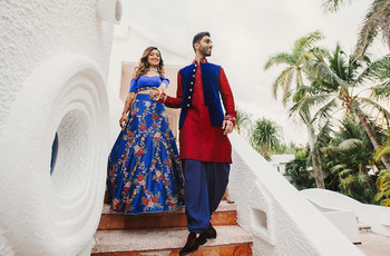 Red and Blue Combinations That Will Make Your Wedding a Regal Affair