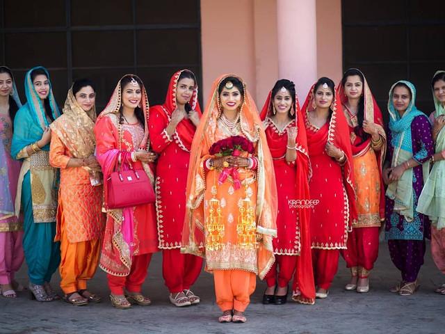 Red, Pink & Golden: Ladies Punjabi Dress Ideas For The Bride