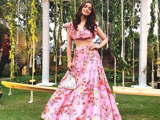 10 of the Most Stunning Crop Top and Ghagra Combinations