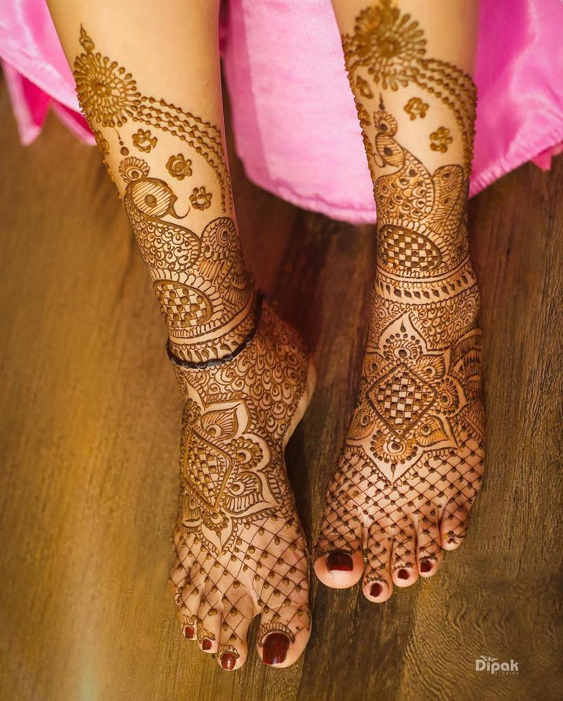 Mehndi Design Leg Dulhan Cute Mehndi Design