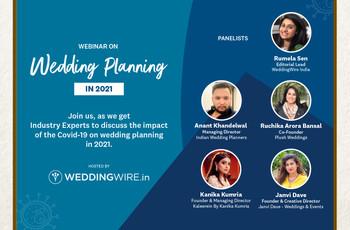 Wedding Planning in 2021 Webinar by WeddingWire India