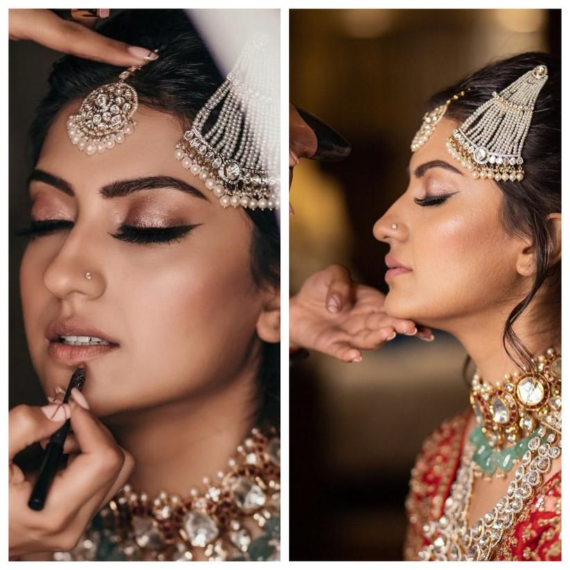 Namrata Soni Bride getting her Make -Up Right