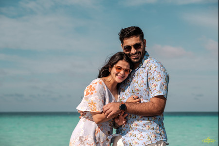 This Couple's Pre-wedding Shoot in the Maldives Is Ethereal