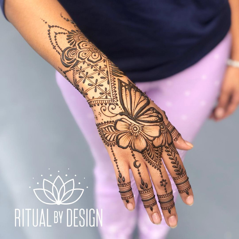 20 Stunning Yet Simple Arabic Mehndi Designs For Left Hand To Your Rescue When You Need To Be On The Move,Principles Of Design Pattern Painting