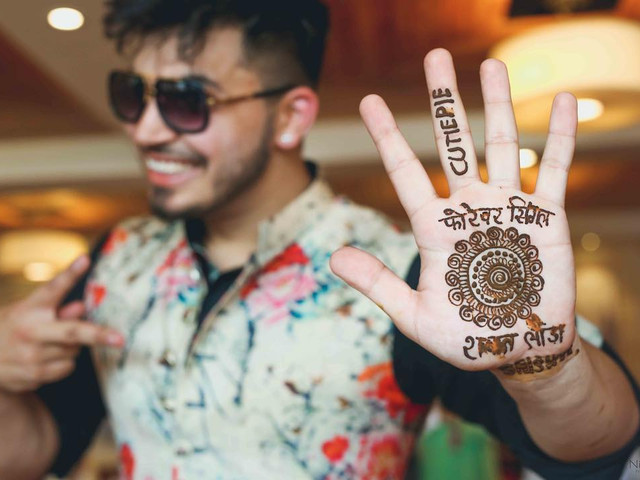 10 Gents Mehndi Designs for the Handsome Grooms for Their Mehndi