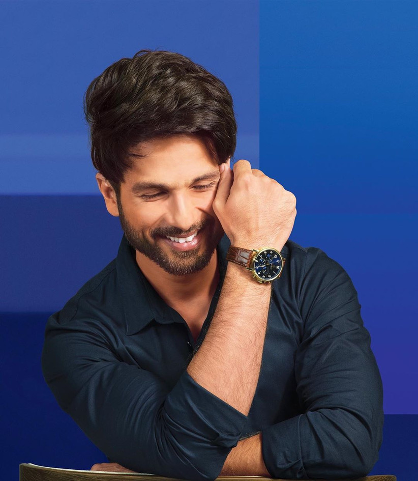 Shahid Kapoor's Boxed Stubble  short beard styles for men