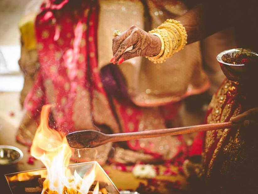 Agni Puja in a hindu wedding