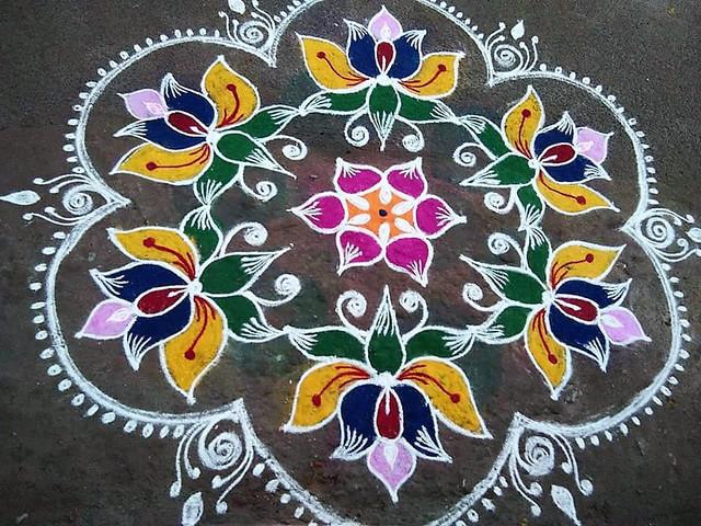 Some DIY Fun Alert: Easy Rangoli Kolam Designs for Your Pallikal Thellichal Celebrations!