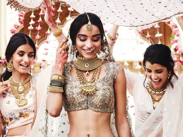 10 Types Of Wedding Necklace Gold To Invest In, For Your Wedding Day And Beyond