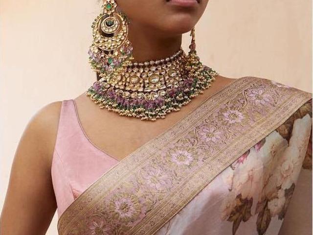 Polki Sets - Best Diamond Polki Jewellery Set Designs Ideas