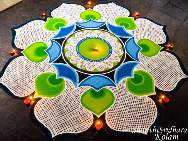 The Spectacular Kolangal Rangoli Designs You Need to See to Make Your Wedding as Colourful as Possible