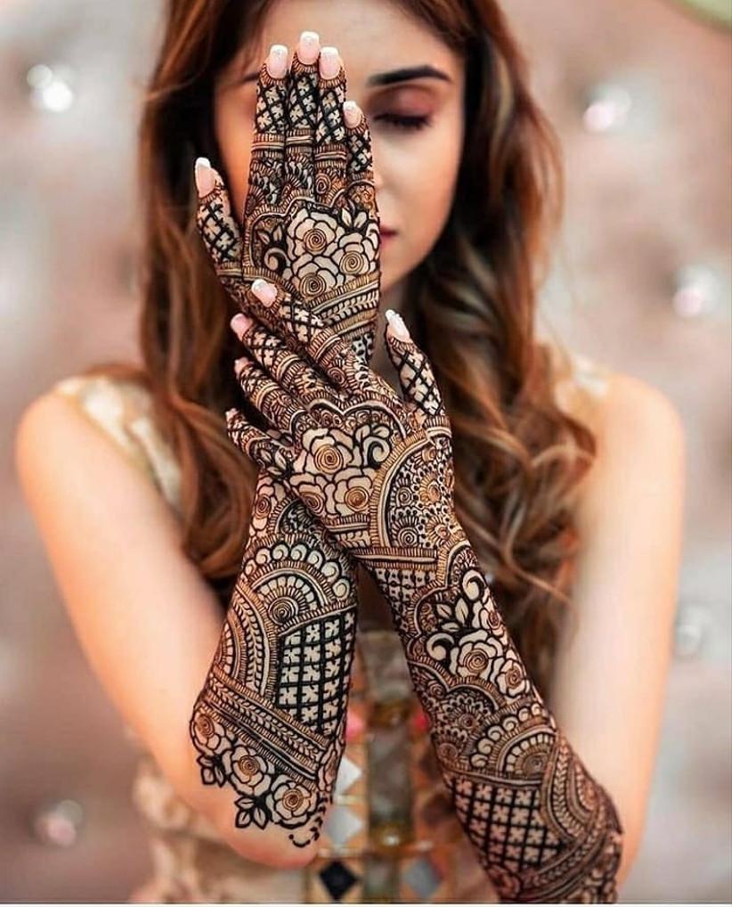 The Floral Love Bridal Mehndi Design