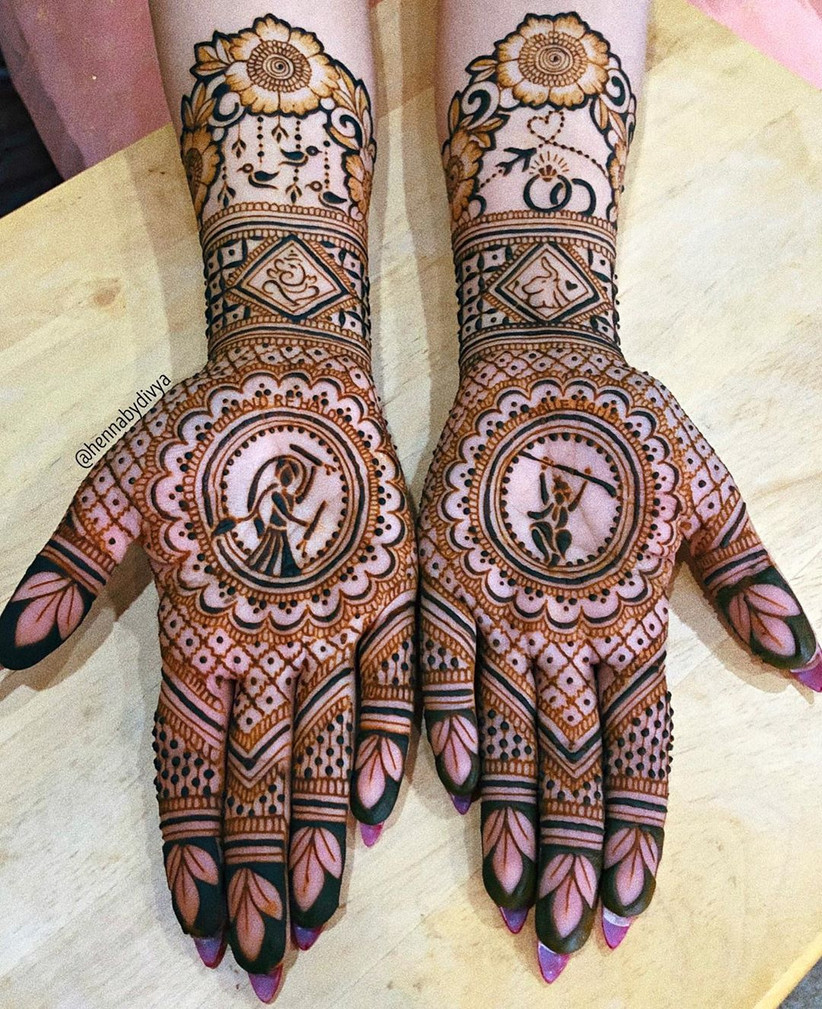 Dance Inspired Bridal Mehndi